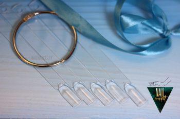 Типсы веерные на кольце, 50 штук (прозрачные)